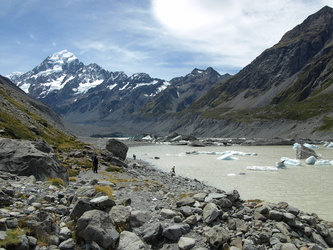 Hooker Lake vor dem Mount Cook