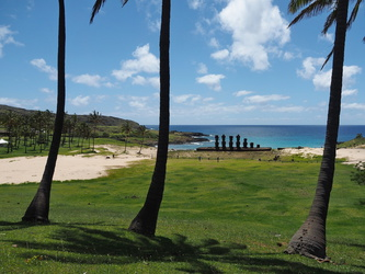 Moai am Anakena-Beach