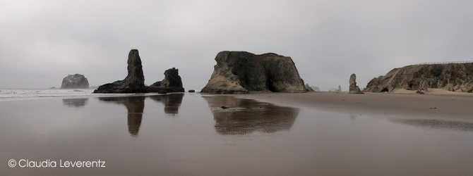 Panoramablick am Bandon Beach