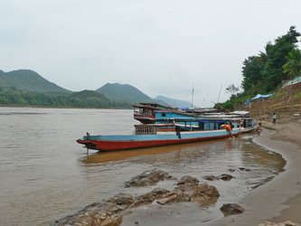 Boote am Mekong