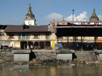 Verbrennungsstellen am Bagmati-Fluss in Pashupatinath
