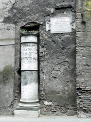 1. Meilenstein der Via Appia Antica