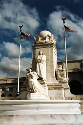 Washington D.C. - Union Station und Columbus Statue